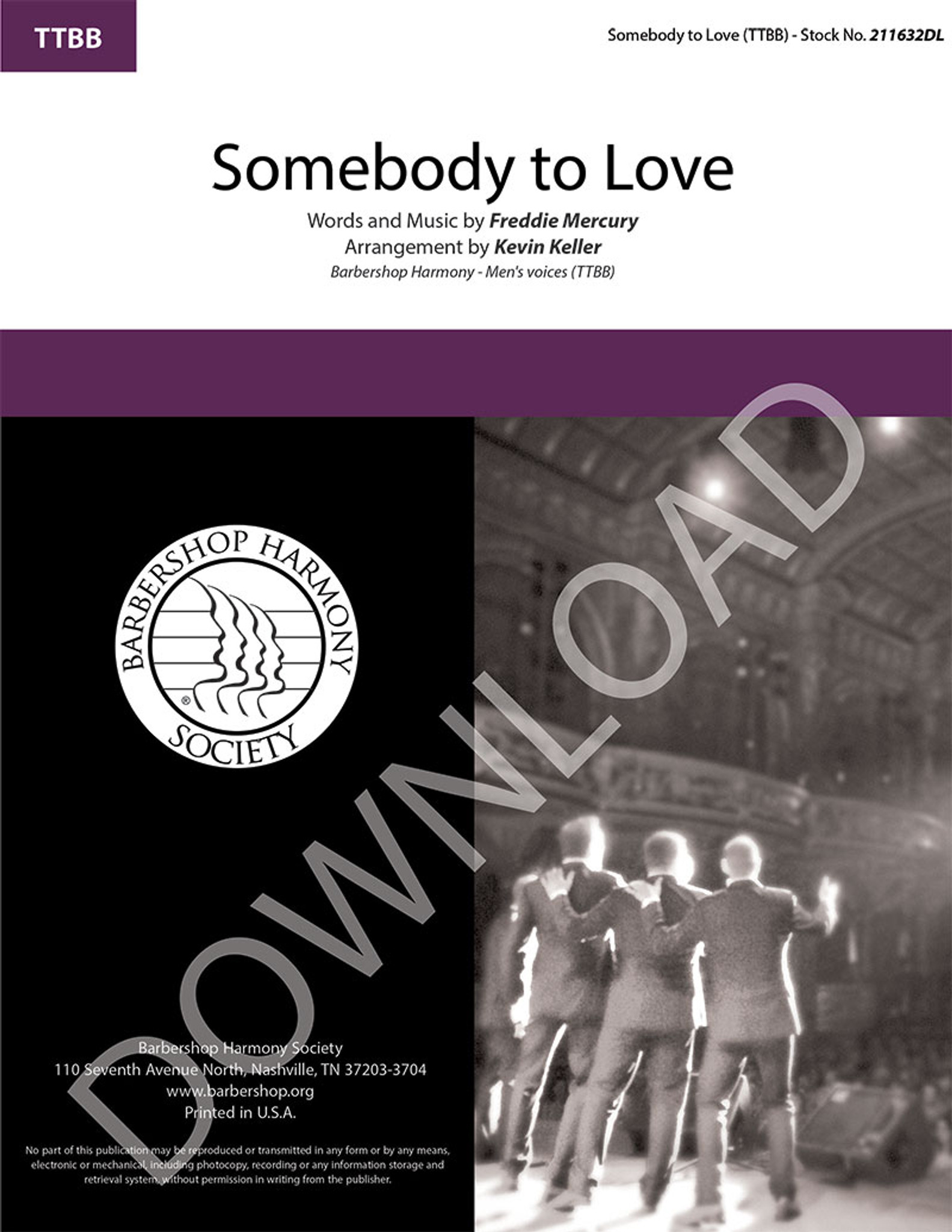 Somebody to Love (TTBB) (arr  Keller) - Download