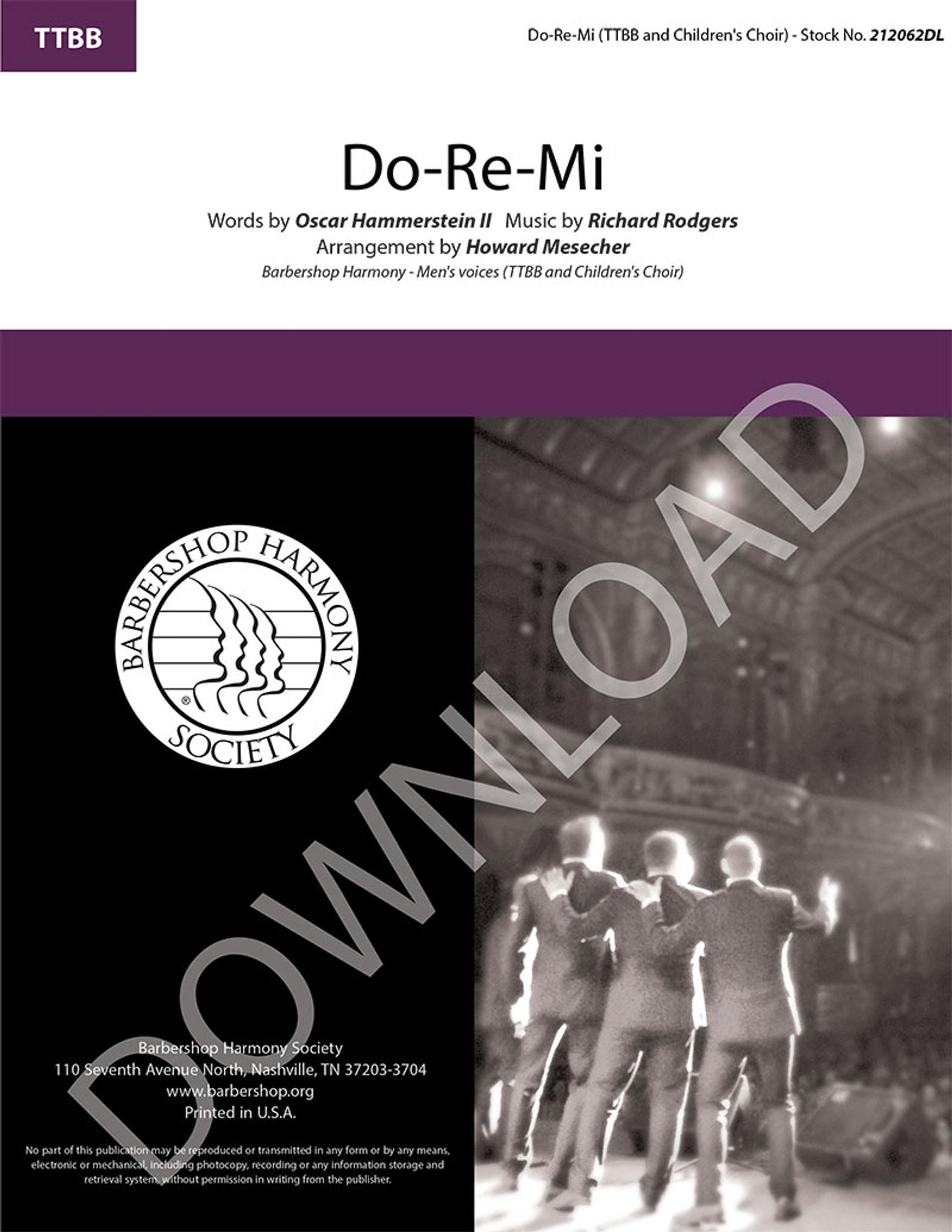 Do-Re-Mi (TTBB) (arr  Mesecher) - Download