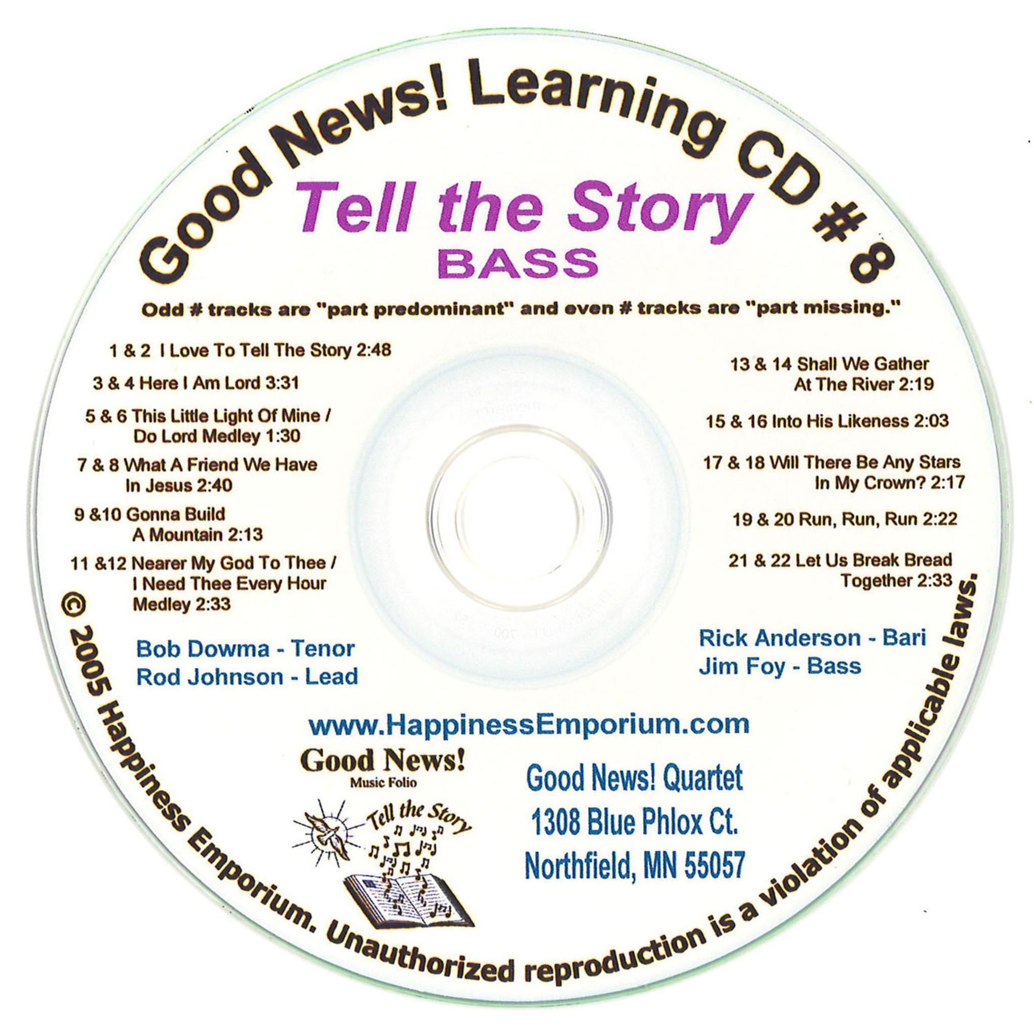 Good News Gospel Learning CD #8 Tell the Story Bass