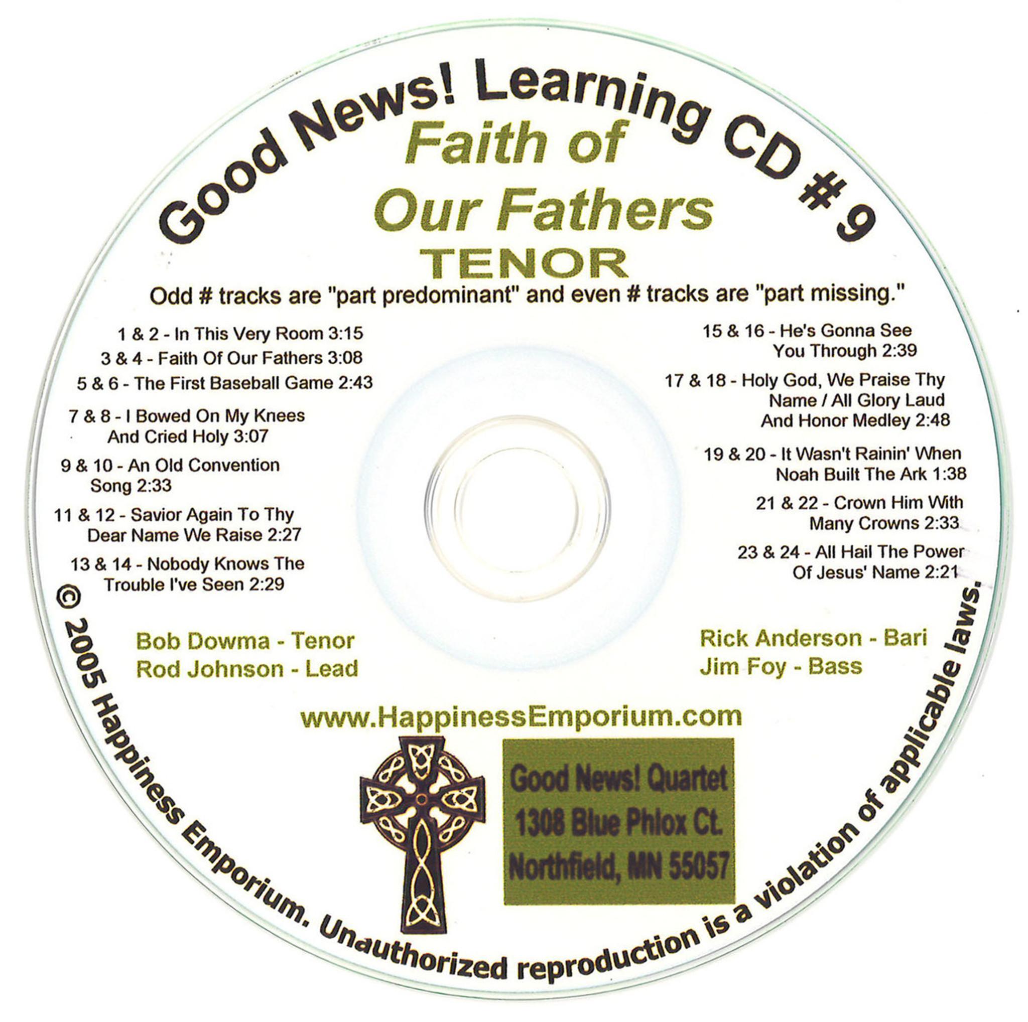 Good News Gospel Learning CD #9 Faith of Our Fathers Tenor