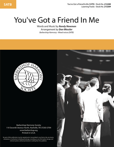 You've Got a Friend in Me (SATB) (arr. Wessler)