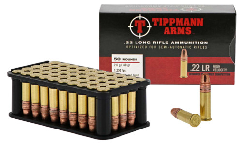 Tippmann Arms .22LR High Velocity Ammunition - 50 round Box