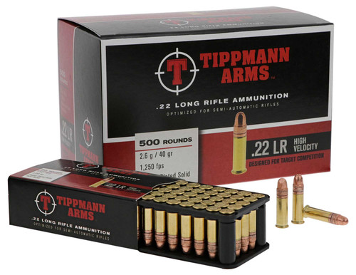 Tippmann Arms .22LR High Velocity Ammunition - 500 round Box