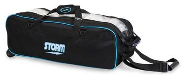 Storm 3 Ball Tournament Travel Roller/Tote Black/Blue
