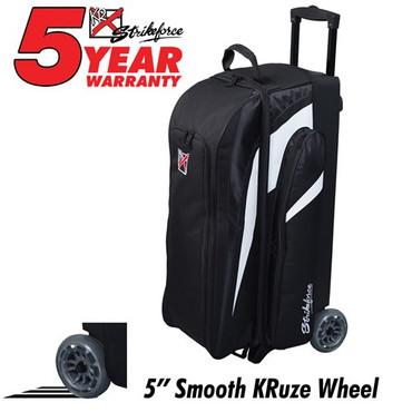 KR Strikeforce Cruiser Smooth Triple Roller Black/White