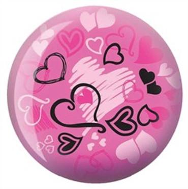 Brunswick Hearts Glow Pink Viz-a-Ball