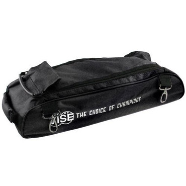 "The Vise Add-On bag can be used to attach to the Vise 3 Ball ""Clear Top"" Tote Roller. This bag has clips that allow it to attach to the Vise Roller/Tote for easy transport. The large size of the bag allows it to accommodate varying sizes of shoes. This add-on bag also helps traveling come easier.  Color: BlackDesigned with 1680 durable denier matt (nylon) fabricClips on the to the Vise 3 Ball ""Clear Top"" Tote RollerLarge storage area to fit varying shoe sizesDurable zippersReinforced stitching5-year limited manufacturer's warranty"