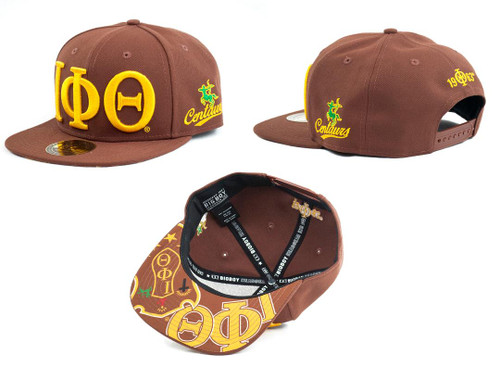 Brown & Gold Iota Hat