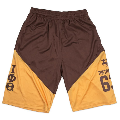 Brown & Gold Iota Shorts