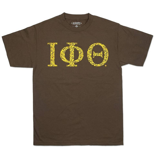 Brown & Gold Iota Tee