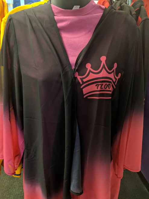 Pink & Black Crown Shawl