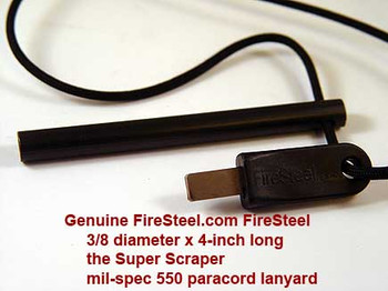 I do not recommend you trying to drill your own lanyard holes - it is very difficult to do properly.  Let us professionally drill a neat, centered lanyard hole for you and string a length of 550-parachute cord with a famous FireSteel.com Super FireSteel Scraper.