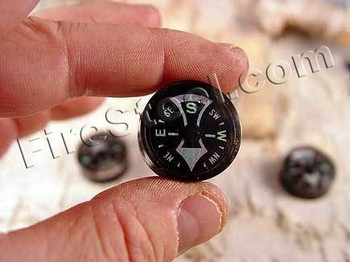 FireSteel.com had a difficult time finding high quality compasses for use with our famous FireSteel Tubes.  We decided that a good button compass is very important for survival so as a public service we decided to offer them along with our FireSteels.