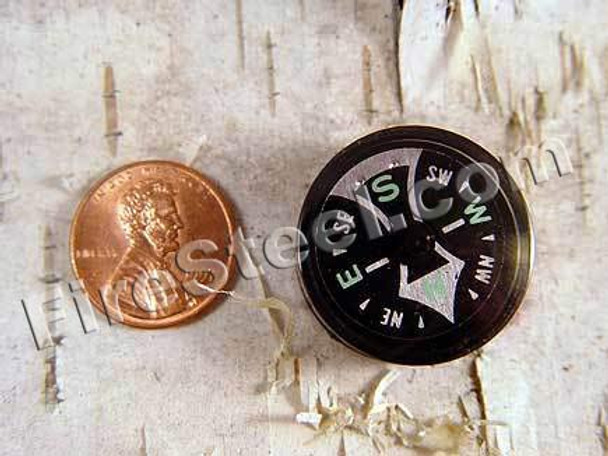 This is a relatively large button compass yet small enough to fit just about anywhere in your gear.