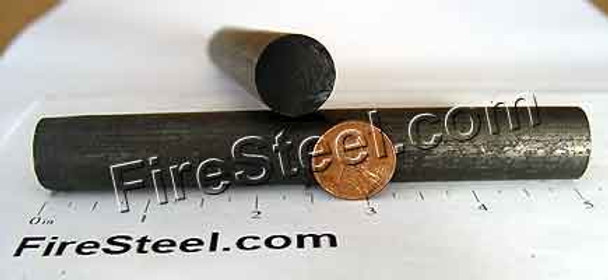 At 7-tenths of an inch thick, the Omega FireSteel by FireSteel.com is nearly as thick as a US Penny