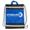 Alternate view of our Drawstring Backpack; It's lightweight and convenient!