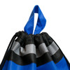 Designed with two grab handles for those who prefer a tote bag. Shows detail of reflective stripe.