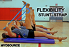 Dancers can increase flexibility and reduce the risk of injury using the Myosource Flexibility Stunt Strap to properly stretch while they warm-up.
