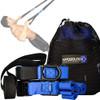 Includes: 2 adjustable nylon suspension straps, 2 comfort grip handles, door mount, mounting strap, handy travel bag.
