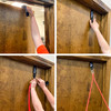 Step by step on how to attach the Arm Pro Bands door mount to an interior door