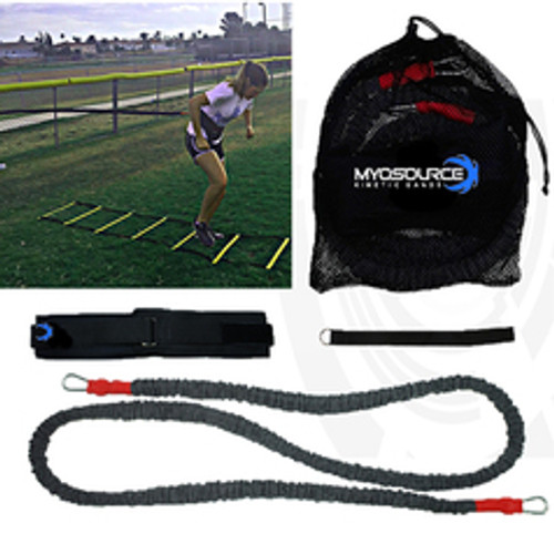 Sprint Speed & Agility Training with Myosource Kinetic Bands/ Resistance Bands Acceleration Speed Cord