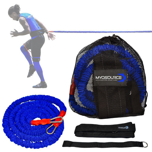Fitness Workout with Myosource Kinetic Bands / Resistance Bands and Acceleration Speed Cord - Fire more Muscles