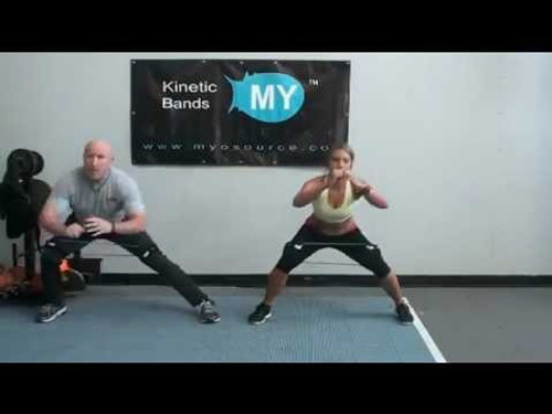 Butt Exercises and Leg Fitness Workouts using Myosource Kinetic Bands / Resistance Bands