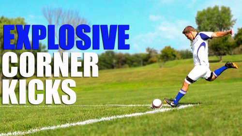 Explosive Corner Kick | Improve Soccer Kicks With Myosource Kinetic Bands / Resistance Bands Training
