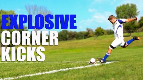 Explosive Corner Kick | Improve Soccer Kicks With Myosource Kinetic Bands / Resistance Bands Training