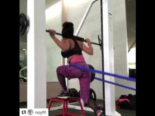 Leg Speed & Agility Strength Training Workouts Elevated Split Squats with Myosource Acceleration Speed Cord
