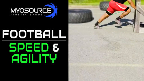 ​Football Speed - Acceleration, Quick Feet and Mechanics Speed Ladder training with Myosource Kinetic Bands / resistance bands