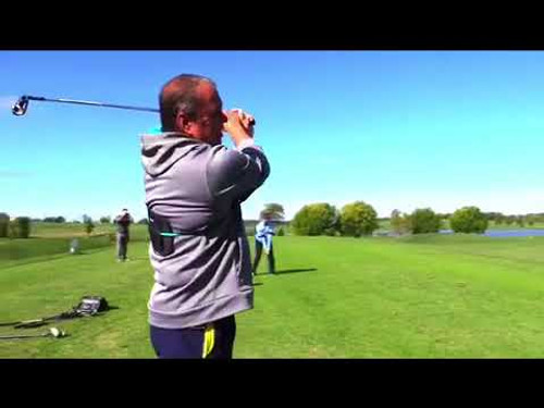 Golf Swing Training Aid to Help Connect the Arms and Upper Body - PowerForm Bands® Fitness Workout