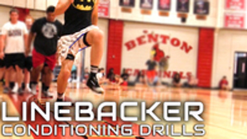 Football Linebacker Quick Feet, Acceleration Speed, Lateral Quickness and Closing Speed Conditioning