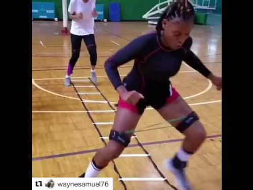 Netball Speed and Agility drills with Resistance Bands / Kinetic