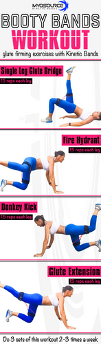 Booty Bands Fitness Workout: Glute Firming Exercises with Kinetic Bands