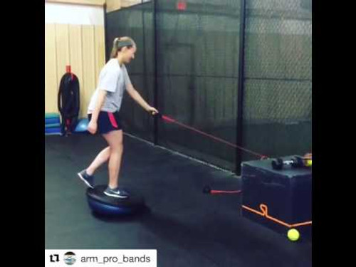 Softball - Pitchers increase Strength,  Balance and Body Control using ArmPro Bands