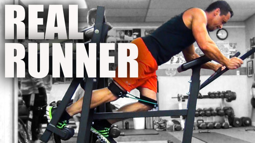 The Real Runner - Best cardio, quad, hamstring and upper body machine for strength training, speed & agility training, and sprint training
