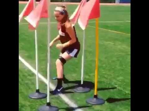 Soccer Drills / Speed and Agility adding Myosource Kinetic Bands / resistance bands to challenge the athlete