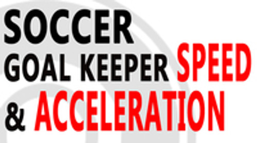 Soccer Goal Keeper Speed and Acceleration training with Myosource Acceleration Speed Cord