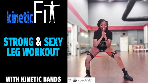 Strong & Sexy Legs Fitness Workout -  Kinetic Bands Fit