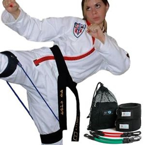 Taekwondo Kicking Speed & Agility Training with resistance bands – Myosource Kinetic Bands