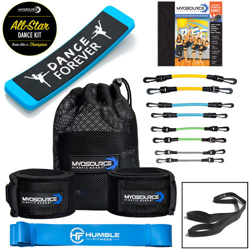5 great training products to help dancers master an all-star performance. Shown with Level 2 Kinetic Bands for ages 13 and up.