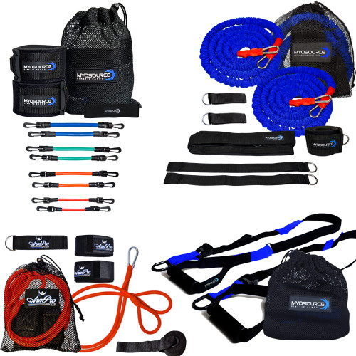 Includes: Kinetic Bands (Leg Resistance Bands), Powerhouse Hitter, ArmPro Bands, Kinetic RT Suspension Straps, Athletic Stretching Strap