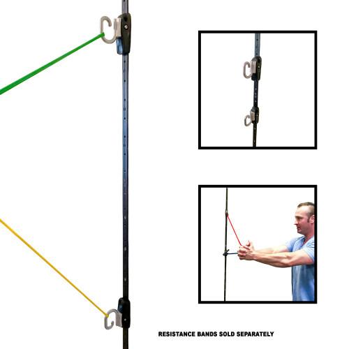 Space Saver Gym - Resistance Band Wall Anchor (2 Rails + 2 Rail Cars)