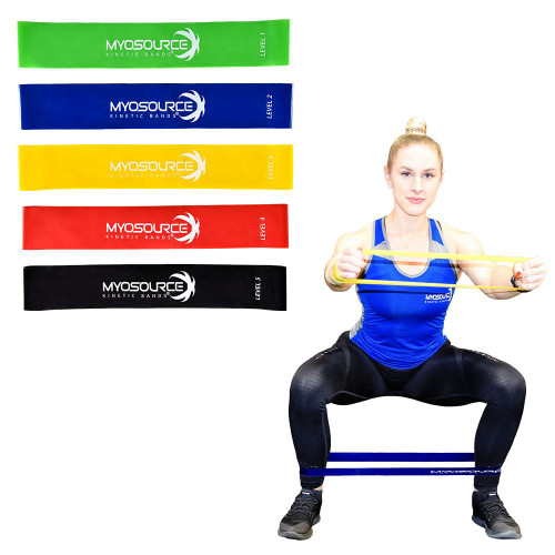 Elastic Mini Resistance Bands for Exercise (Set of 5)