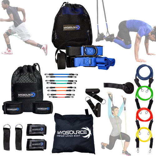 Resistance Bands Sets and Suspension Straps Kinetic RT Full Body Workout Kit