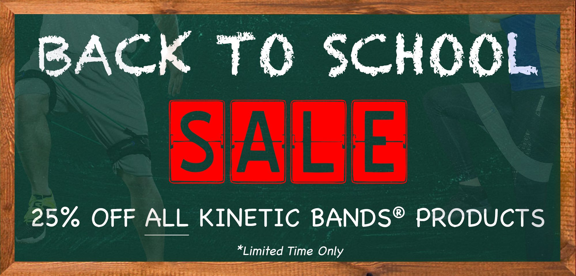 Back to School Sale. 25% off all Kinetic Bands Products. Limited Time Only!