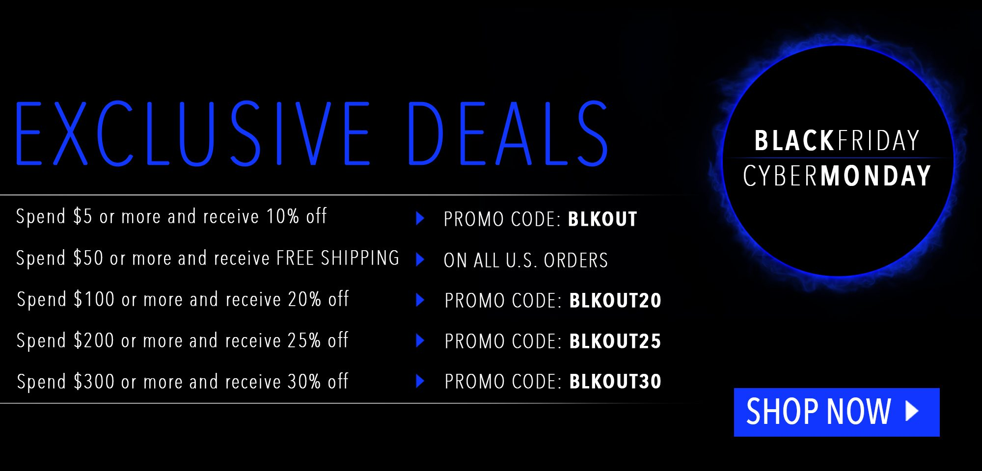 Black Friday and Cyber Monday 2019 Exclusive Deals - Shop Now!