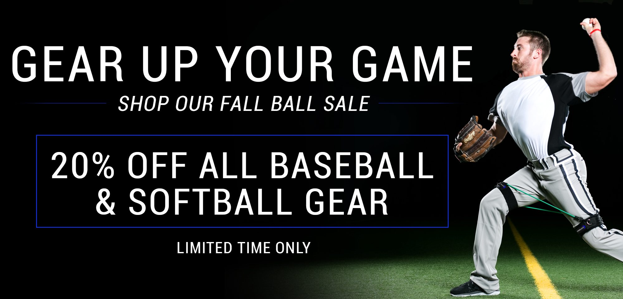 Gear Up Your Game - Shop Our Fall Ball Sale - 20% Off All Baseball and Softball Gear - Limited Time Only