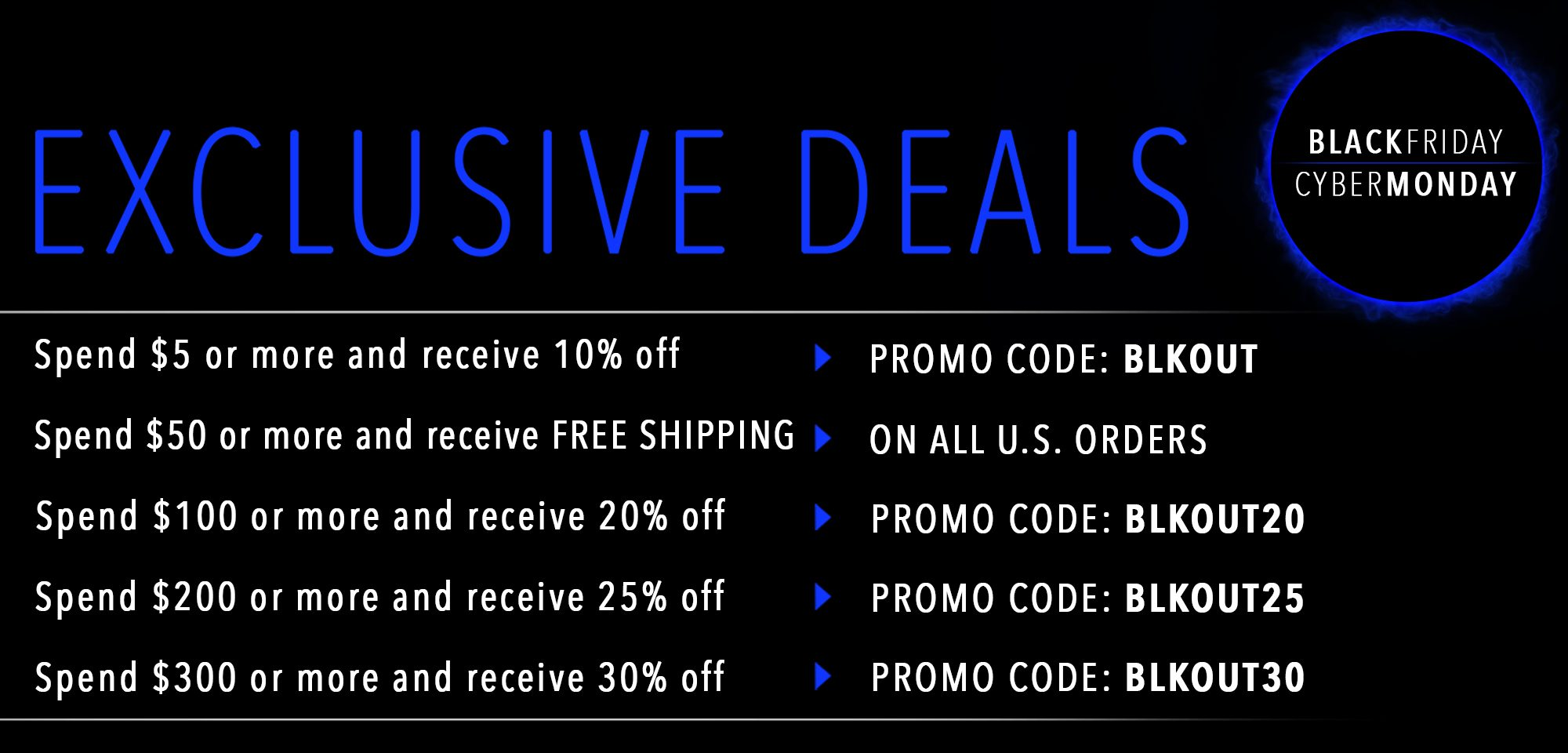 Black Friday, Cyber Monday 2019 Exclusive Deals Banner